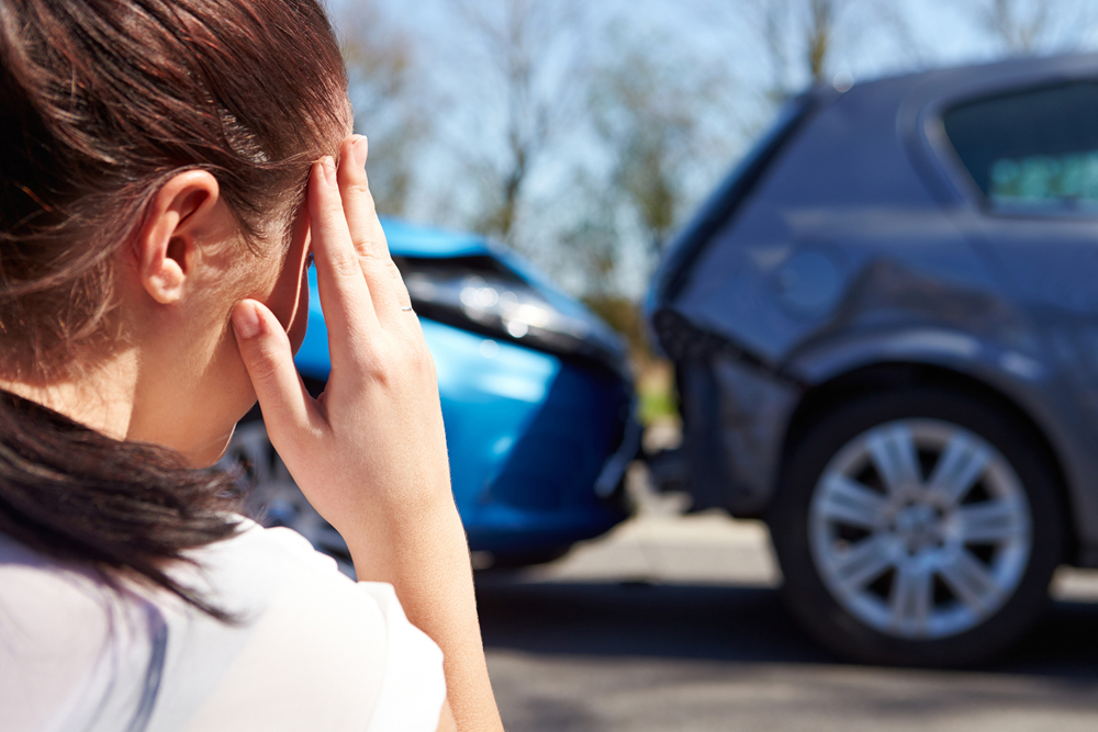 Woman suffering from Auto Accident Injury